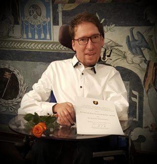 Julian Wendel, Preisträger des Würzburger Bürger Sozialpreises 2018