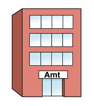 Ein Amtsgebäude.