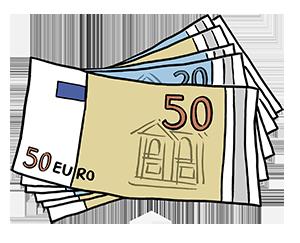 Stapel Geldscheine