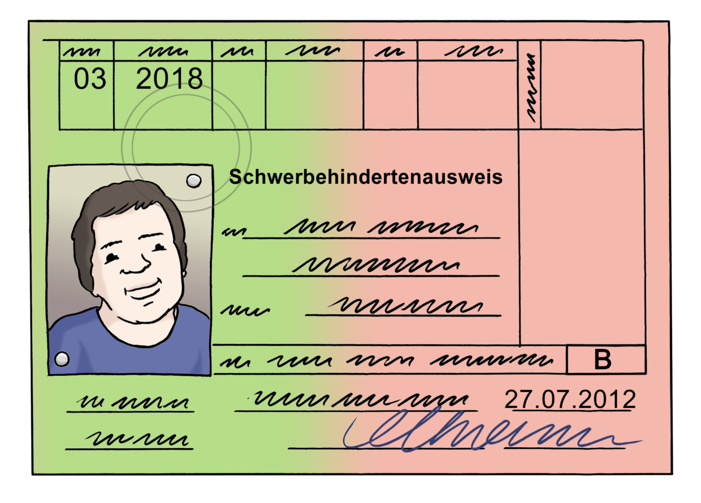 Ein Schwerbehindertenausweis.