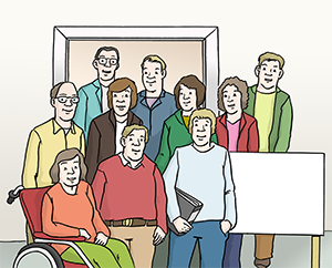 Ein Beirat bestehend aus Menschen mit und ohne Behinderung