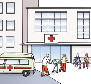 Ein Krankenhaus