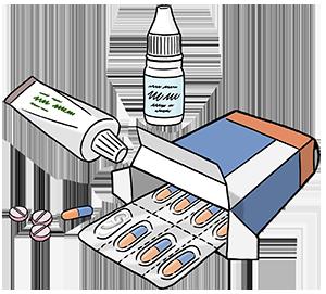 Verschiedene Medikamente