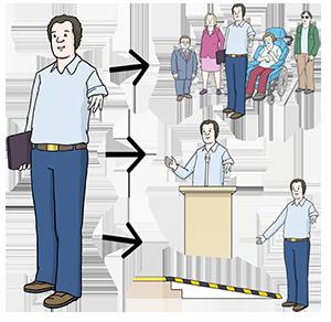 Ein Behindertenbeauftragter und seine Arbeitsbereiche